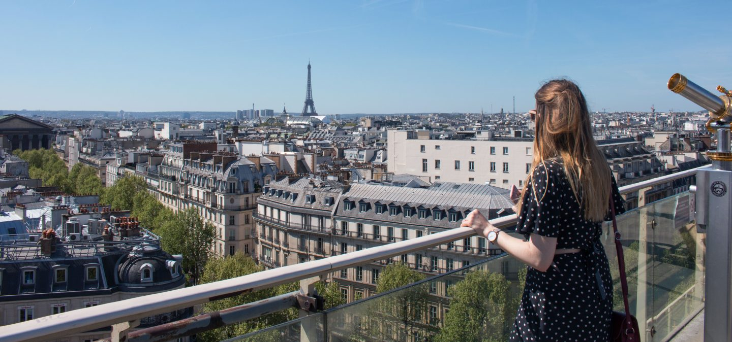 The view from the Printemps rooftop in Paris